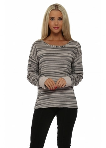 Vixen Veiled Mist Raw Edge Sweater In Seashell