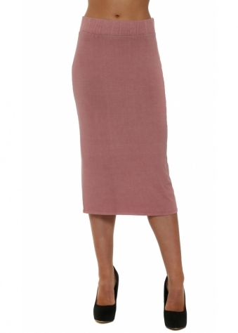 A Postcard From Brighton Mindy Rose Dust Jersey Midi Skirt