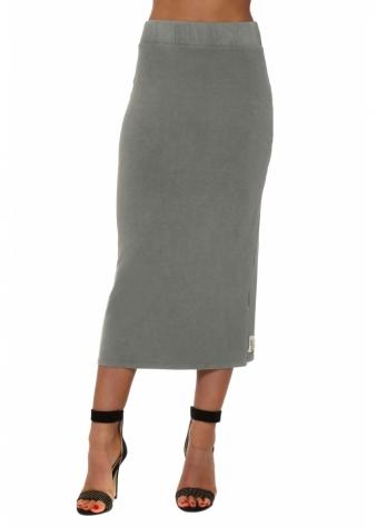 Mindy Smokey Jersey Midi Skirt