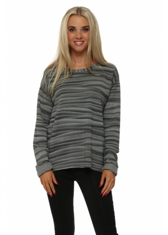 Vixen Veiled Mist Raw Edge Sweater In Smokey