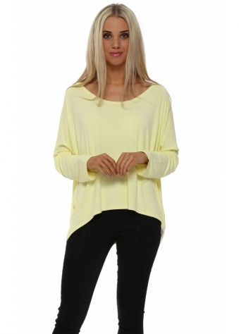 A Postcard From Brighton Karma Slouch Top In Lemon Dream