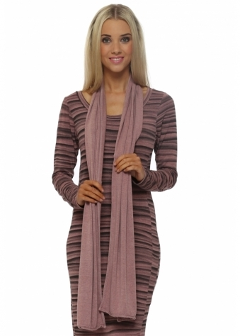 A Postcard From Brighton Rose Dust Melange Jersey Scarf