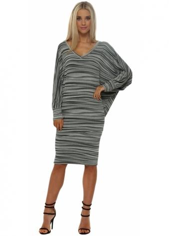 A Postcard From Brighton Vickie Veiled Mist V Neck Midi Dress In Pistachio