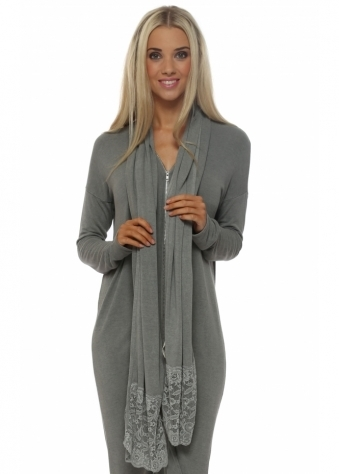Ella Smokey Jersey Enchanted Lace Scarf
