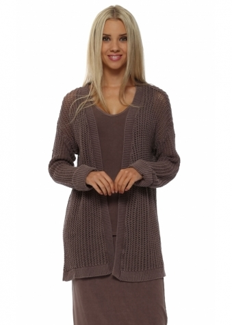 Poppet Chocolate Chunky Knit Cardigan
