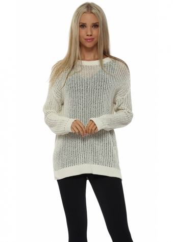 Polly Open Weave Foam Sweater