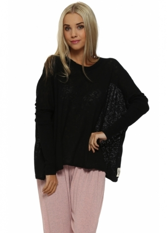 Rachel Black Slub Knit Jumper