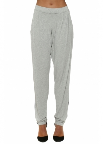Contrast Foam Melange Chillings Loose Fit Pants