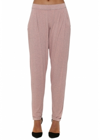Coral Melange Chillings Loose Fit Harem Pants