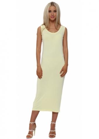 Nancy Lemon Dream Jersey Midi Dress