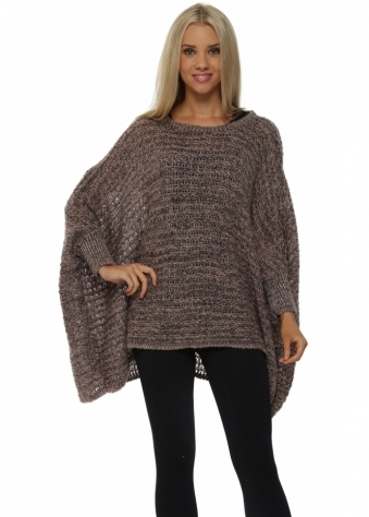 A Postcard From Brighton Tuc Tuc Blush Poncho Jumper