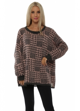 Checkie Blush Thick Knit Jumper