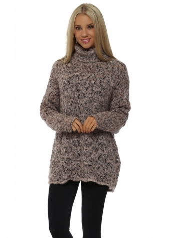 Lacey Seashell Cable Roll Neck Jumper