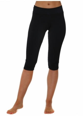Carly Black Cropped Jersey Leggings