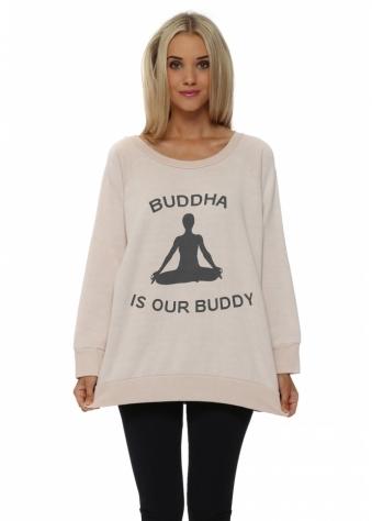 A Postcard From Brighton Yoga Buddha Buddy Seashell Sweater