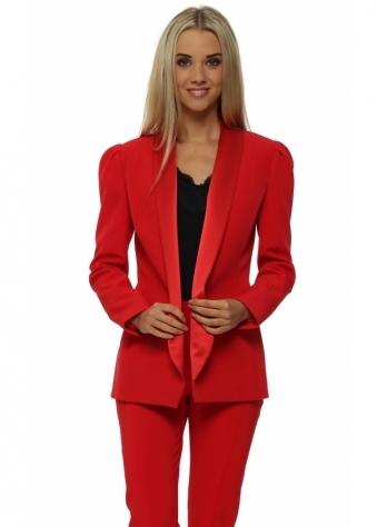Diaz Tailored Red Tuxedo Style Blazer