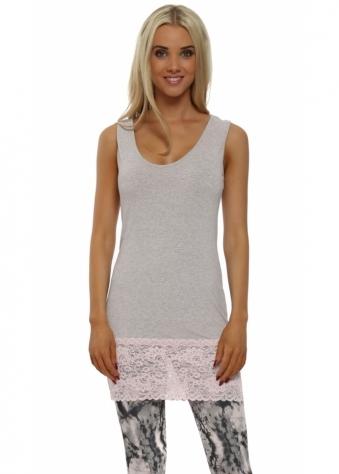 Sammy Buff Melange Long Lace Vest