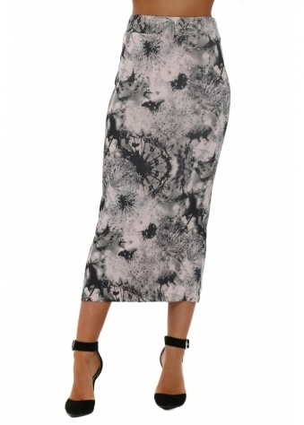 Diana Dandy Lion Midi Skirt In Buff