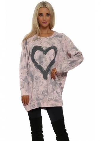 Toni Tender Trap Heart Motif Sweater