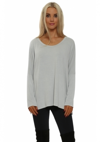 Victoria Putty Grey Zip Sweater