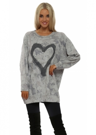 Toni Tender Trap Heart Motif Sweater In Putty