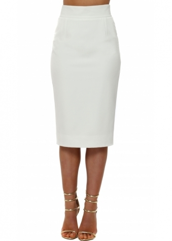 Piper Winter White Pencil Skirt