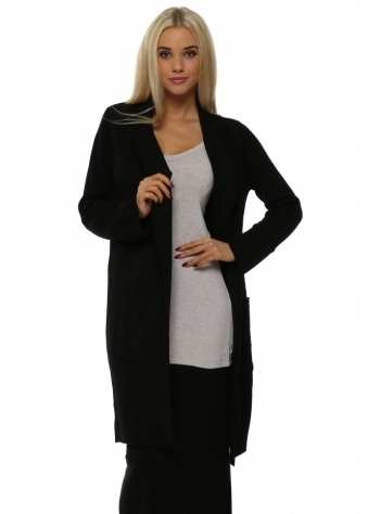 Mia Premium Deconstruct Black Wool Coat