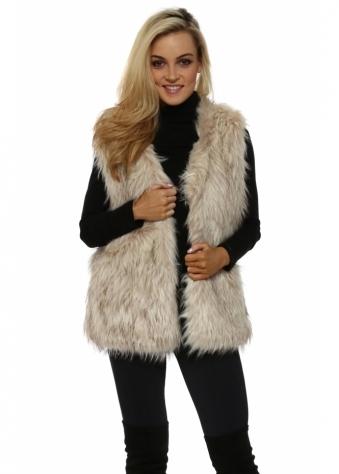 Mink Faux Fur Long Gilet