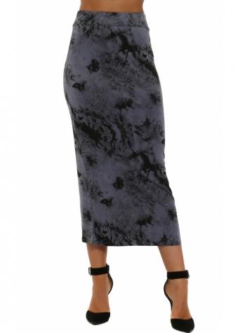 Diana Dandy Lion Midi Skirt In Wet Slate