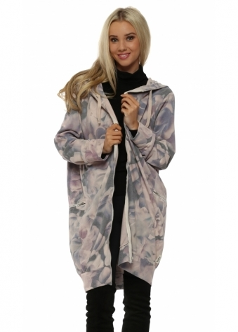 Flora Pink Flower Fest Hooded Fleece Parker