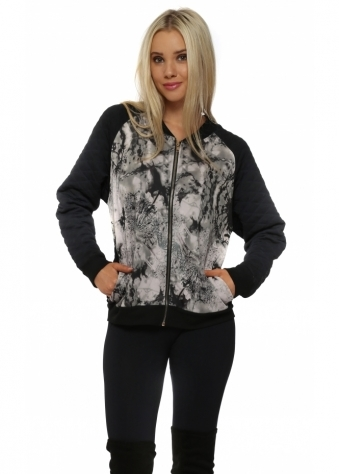 Dani Dandy Lion Buff Quilted Bomber Jacket