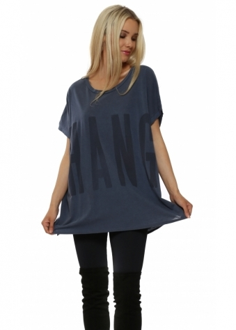 Yoga Hang Over Wet Slate Tunic Top