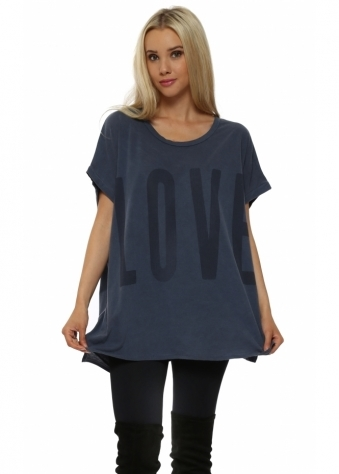 Yoga Love Life Wet Slate Tunic Top