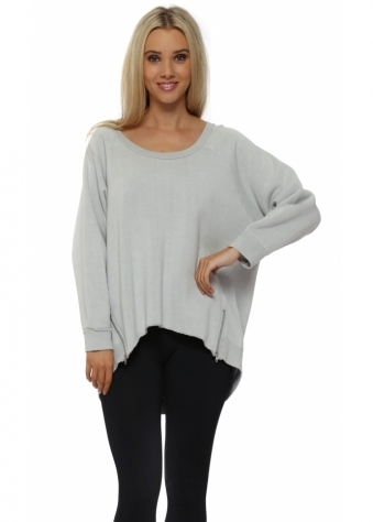 Patsy Putty Zip Dip Hem Sweater