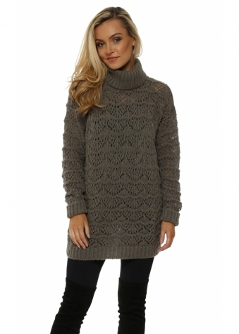 Victoria Herb Cable Roll Neck Jumper
