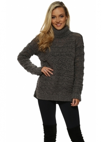 Victoria Thunder Cable Roll Neck Jumper