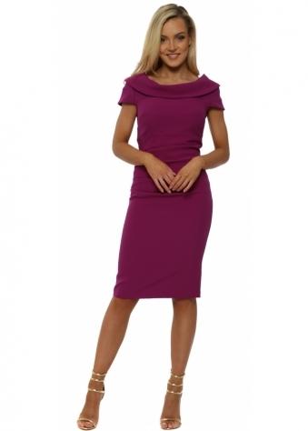 Virginia Magenta Pencil Dress