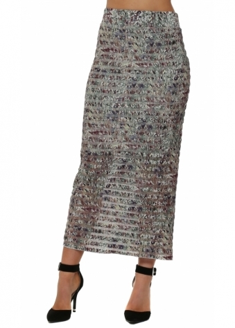 Layla Liberty Belle Putty Mesh Maxi Skirt