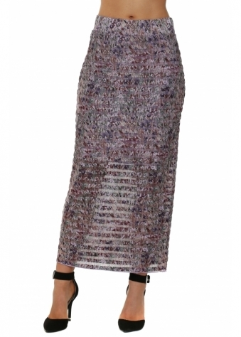 Layla Liberty Belle Antique Mauve Mesh Maxi Skirt