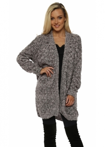 Maxine Pink Basket Weave Knit Cosy Cardigan