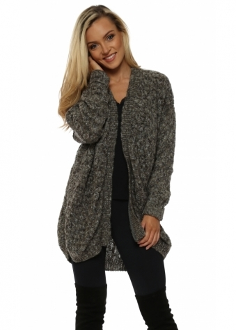 Maxine Herb Basket Weave Knit Cosy Cardigan
