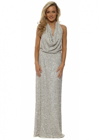 Draped Backless Sequinned Khloe Dress