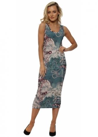 Briana Chalk Bejewelled Midi Dress