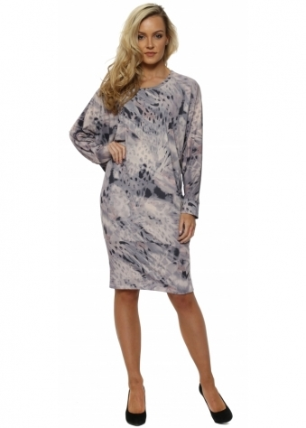 Roxy Rain Shadow Tunic Dress In Chalk