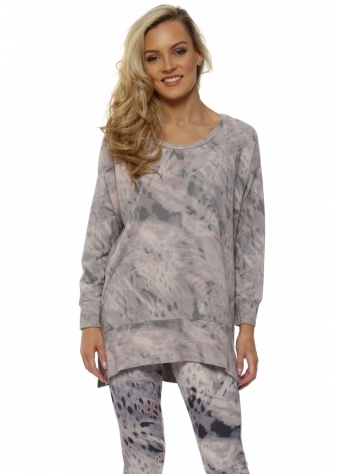 Raquel Chalk Rain Shadow Oversized Sweater