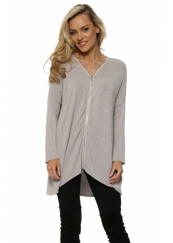 Flick Chalk Melange Double Ended Zip Top