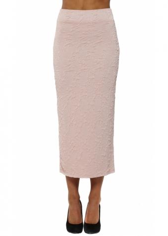 Claire Cloque Chalk Midi Skirt