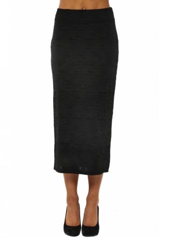 Claire Cloque Black Midi Skirt