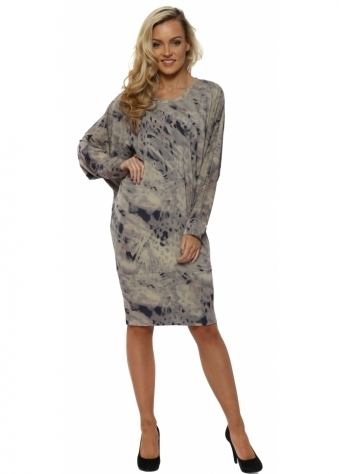 Roxy Rain Shadow Tunic Dress In Nomad