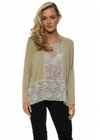 Binkie Nomad Lace Insert Slouch Top